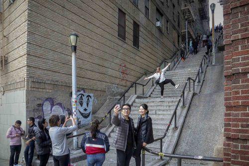 Die aus dem Film bekannten Stiegen sind nun ein Touristenmagnet. AP