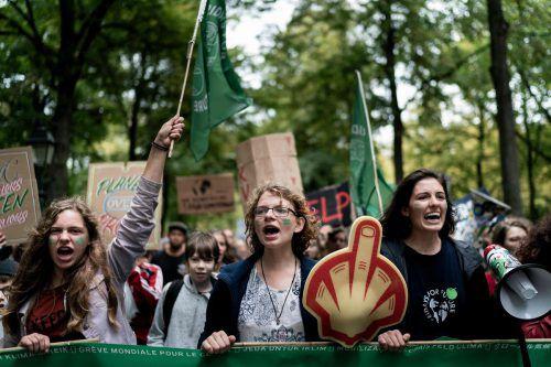 Die Diskussionen und Proteste gegen den Klimawandel ebben nicht ab.AFP
