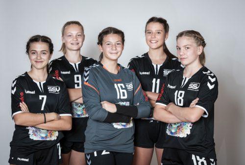 Die jungen Handballerinnen des SSV Dornbirn Schoren freuen sich auf ehrenvolle Einsätze im Nationalteam.cth