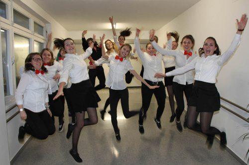 Die Schülerinnen der HLW Institut St. Josef freuen sich auf zahlreiche Besucher beim Tag der offenen Tür.HLW Feldkirch