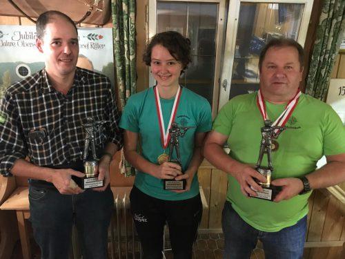 Die Sieger im 50-m-Kleinkaliber. usg andelsbuch