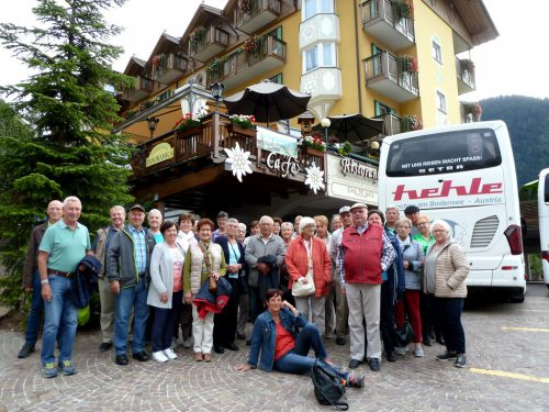 Die Teilnehmer der Herbstreise nach Südtirol. sb