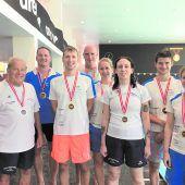 24 Mal Edelmetall für dieVorarlberger Masters-Schwimmer