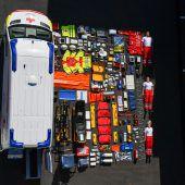 VN-XXL. Rotes Kreuz Vorarlberg stellt in der Tetris-Challenge seinen neuen Rettungstransportwagen vor
