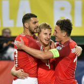 Österreichs Nationalteam besiegt Israel mit viel Mühe mit 3:1. C1