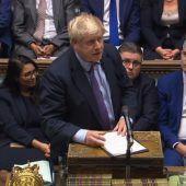 Britischer Premier Johnson legt seine Gesetzgebung zum Brexit-Deal auf Eis. A2