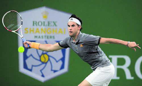 Für Dominic Thiem kam im Viertelfinale von Schanghai das Aus.apa