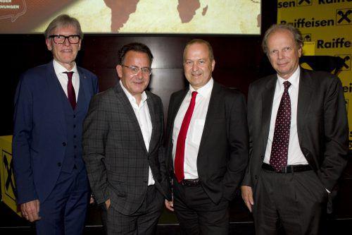 Gastgeber Wilfried Hopfner (l.) mit Jürgen Adami, Jürgen Kessler und Referent Raimund Löw. FRANC