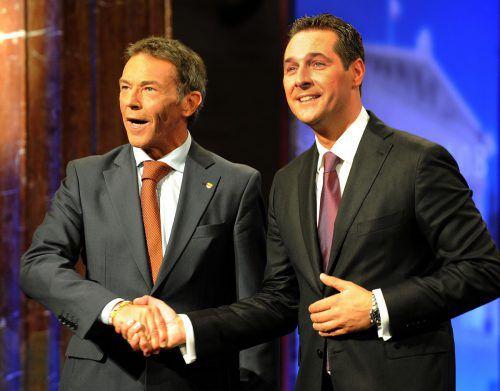 Haider (l.) und Strache haben die FPÖ-Geschichte über lange Zeit geprägt.APA