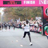 Marathon-Schuhwird untersucht