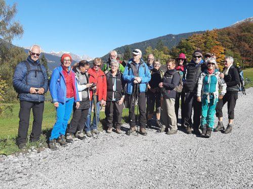 Herrliches Wetter bei der letzten Bergtour nach Latschau.Vorarlberger Seniorenbund