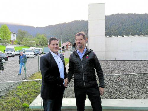 Hugo Kathan (r.) ist seit Kurzem Vizebürgermeister von Fraxern.CHristof Egle