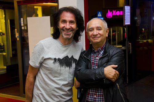 Joe Fritsche (l.) und Niko Mylonas bei der Filmpremiere.