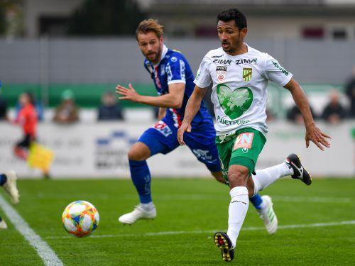 Lustenaus Tormaschine Ronivaldo hat in 65 Spielen 56 Tore erzielt. Gegen Liefering sollen die nächsten Treffer gelingen.gepa