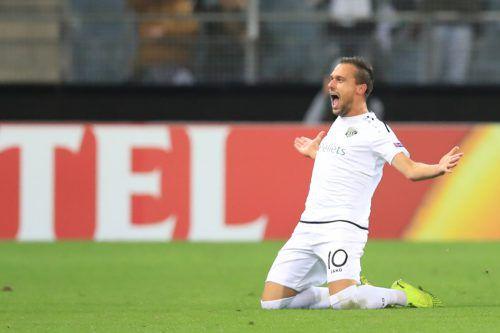 Michael Liendl erzielte per Weitschuss den 1:1-Ausgleich gegen AS Rom.Gepa