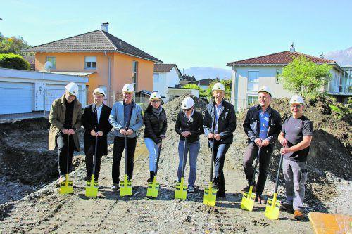 Mit dem Spatenstich erfolgte der Baustart zur Wohnanlage Kronenweg. Foto: Panorama
