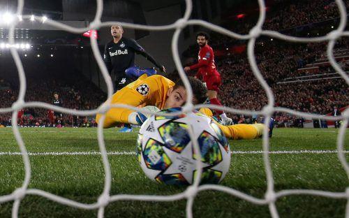 """Mohamed """"Mo"""" Salah erzielte das entscheidende Tor in einem dramatischen Spiel und damit den Siegtreffer für die Reds.afp"""