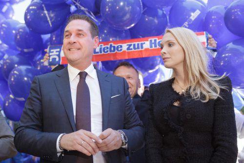 Nachdem Heinz-Christian Strache als Parteichef zurückgetreten ist, erhielt seine Frau Philippa einen Platz auf der Wiener Landesliste. APA