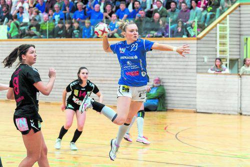 Neun Treffer von Elisabeth Schneider waren für BW Feldkirch zu wenig.stiplovsek