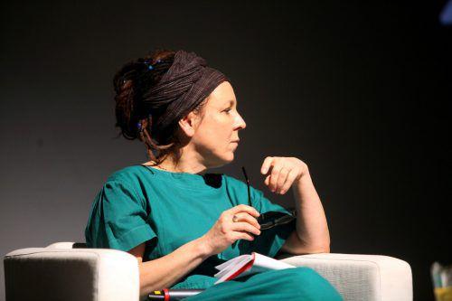 Olga Tokarczuk bei einer Lesung in Warschau. reuters, gazeta