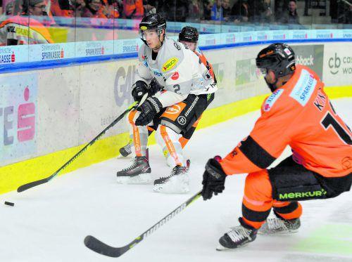 Olivier Magnan und seine Dornbirner Kollegen finden in der Anfangsphase der Erste Bank Eishockeyliga nicht in die Spur. gepa
