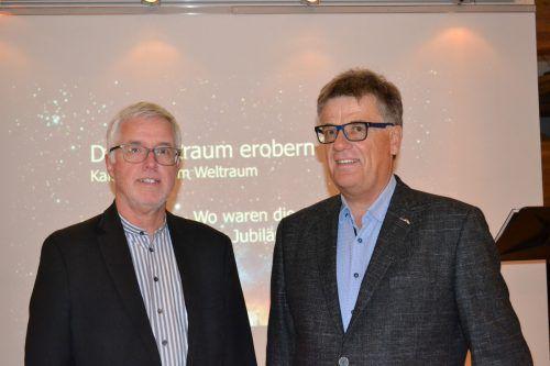 Otto Schwald und Robert Seeberger gestalteten einen äußerst spannenden Vortrag über das Wettrüsten im All. BI