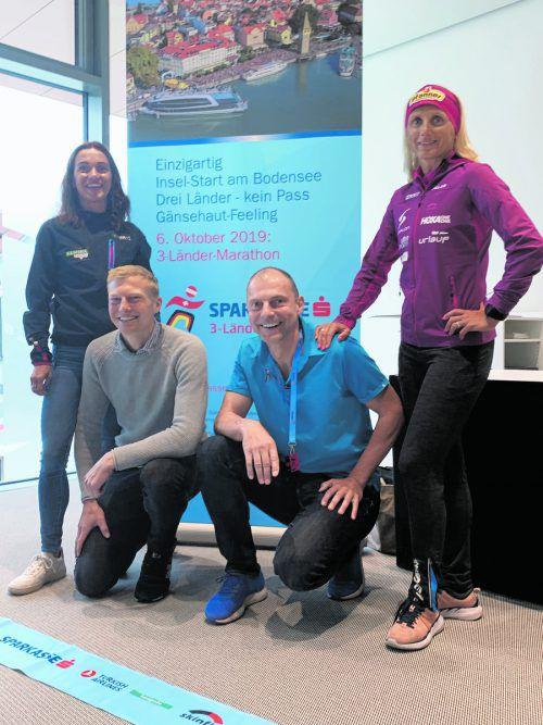 Rennleiter Günter Ernst (2. v. r.) mit Sandra Urach, Patrik Wägeli und Yvonne van Vlerken (von links).adam
