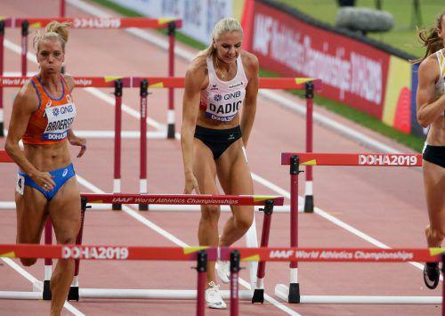 """Siebenkämpferin Ivona Dadic zog sich beim Hürdenlauf """"nur"""" eine Zerrung zu.Gepa"""