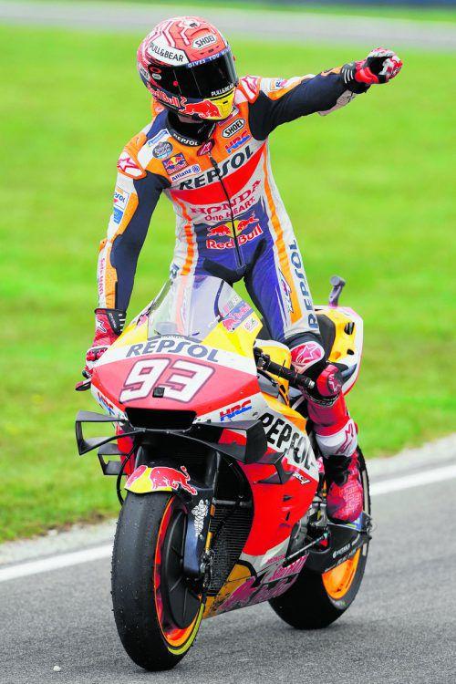 Sieg Nummer elf im 17. Rennen dieser Saison für Marc Marquez, es war der 55. Erfolg in der MotoGP-Kategorie, der 81. in einem WM-Lauf insgesamt.reuters