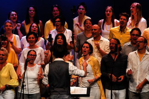 SingRing in Action beim großen Jubiläumskonzert.gospelchor singring