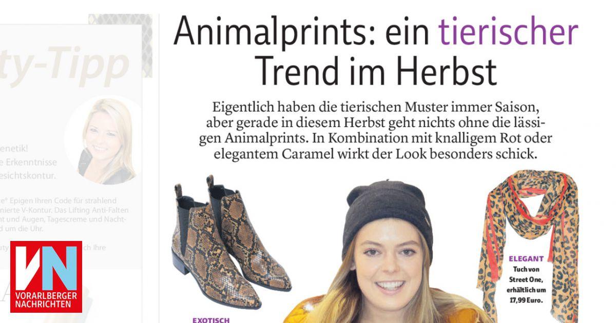 Animalprints: ein tierischer Trend im Herbst Vorarlberger