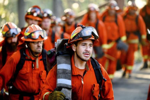 Tausende Feuerwehrleute sind im Einsatz, um die Wald- und Buschfeuer einzudämmen. AP