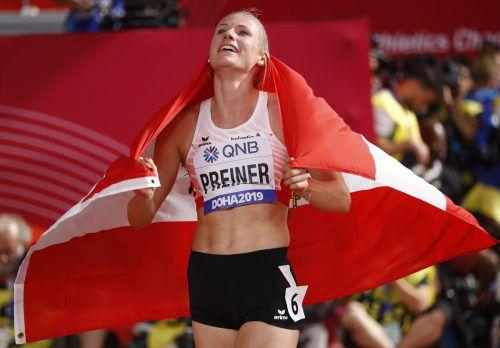 Verena Preiner erfüllte sich mit Bronze den Traum von der WM-Medaille.Reuters