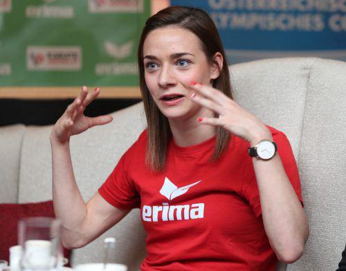 Wieder Verletzungspech: Bettina Plank schied in Moskau mit Knieschmerzen aus. gepa