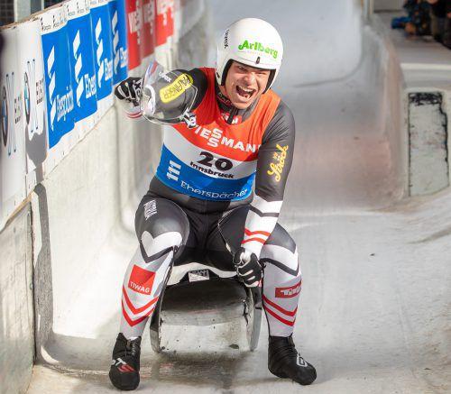 Jonas Müller ist aktuell im Einsitzer das Maß aller Dinge im Rodelweltcup.GEPA