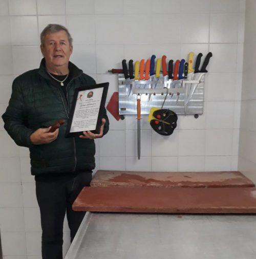 Adolf Burtschers patentierte Wildwurst wurde neuerliche ausgezeichnet. Burtscher