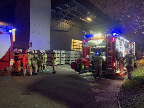 Am Firmengelände von Grass brach ein Feuer aus.vol.at/Pletsch