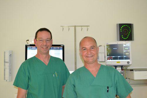 Andreas Radl (l.) und Michael Pellini freuen sich über das positive Feedback ihrer Patienten. BI