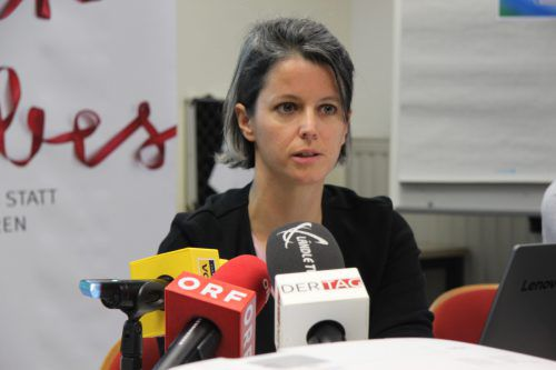 Angela Knill steht der Aidshilfe neu als Geschäftsführerin vor. vol.at/mayer