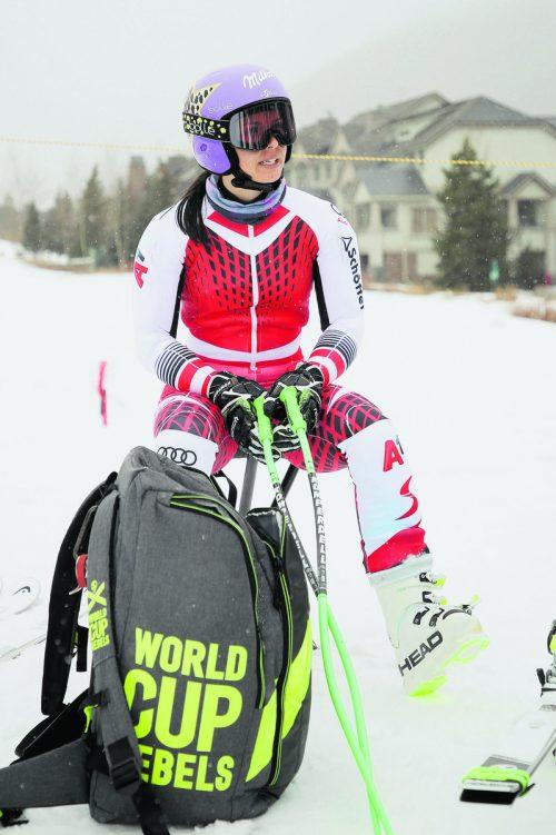 Anna Veith versucht nach ihrer dritten Kreuzbandverletzung beim Riesentorlauf in Killington einen Neustart.gepa