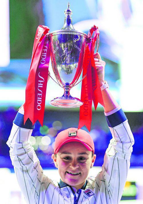 Ashleigh Barty gewann als erste Australierin seit 1976 die WTA Finals.apa