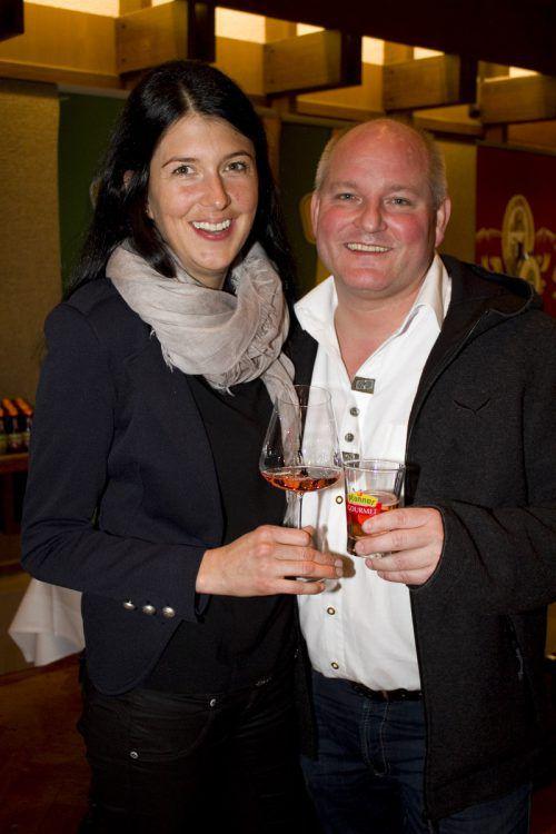 Auf Kurzbesuch: Theresia und Thomas Zwerger (Kornmesser).