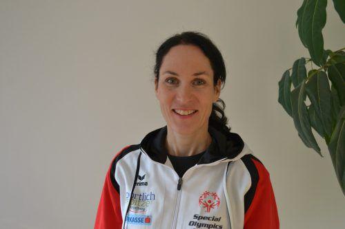 Beatrice Amann hat keine Berührungsängste mit Sportlern mit intellektueller Beeinträchtigung. BI
