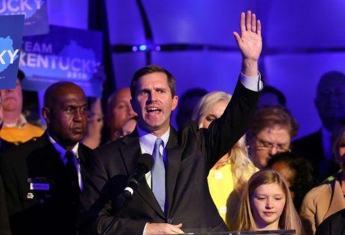 Beshear dürfte sich knapp in Kentucky durchgesetzt haben. AFP