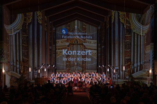 """Besonderes Lob ging an die Jugendmusik mit ihrem Stück """"Siaihamba"""". musikverein feldkirch-nofels/christian lins"""