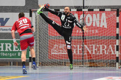 Bregenz-Goalie Goran Aleksic lieferte zuletzt konstant starke Leistungen ab. GEPA