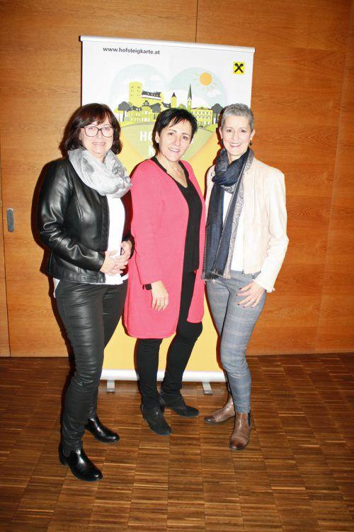 Carmen, Rita und Sandra bei der Generalversammlung.
