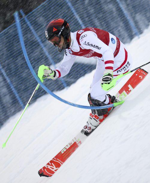 Christian Hirschbühl fuhr vor einem Jahr beim Weltcupslalom in Levi auf den achten Platz.gepa