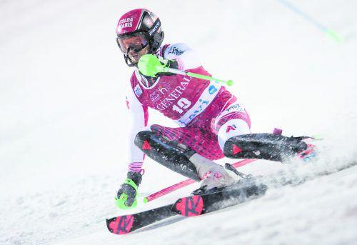 Christian Hirschbühl war auf Platz sieben zwar der beste ÖSV-Slalomläufer in Levi, aber mit seiner Leistung nicht restlos zufrieden.gepa