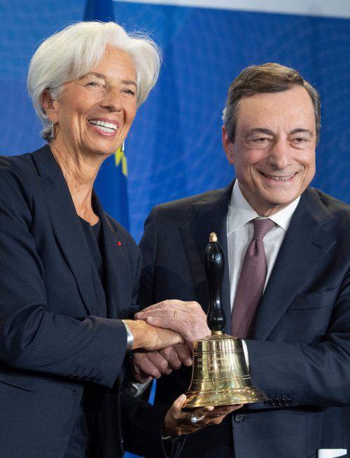 Christine Lagarde löst Mario Draghi an der EZB-Spitze ab. AFP